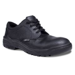 Black Safety Shoes Steel Capped Size 11 Janitorial Supplies
