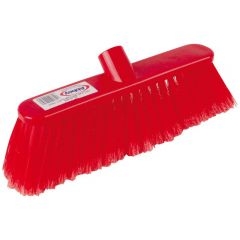 12 Inch Red Deluxe Soft Broom Head Janitorial Supplies