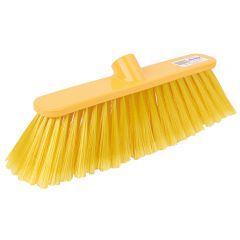 12 Inch Yellow Deluxe Soft Broom Head Janitorial Supplies