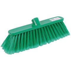 12 Inch Green Deluxe Soft Broom Head Janitorial Supplies