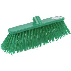 12 Inch Green Deluxe Stiff Broom Head Janitorial Supplies