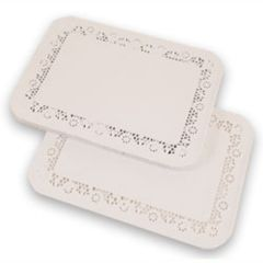396x314mm Lace Tray Paper Doyleys Janitorial Supplies