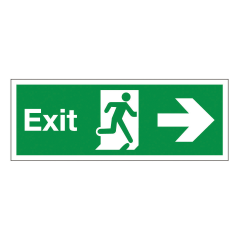 Fire Exit Sign Arrow Right 450x150mm