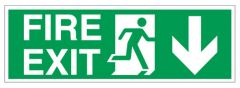 Sign Fire Exit Arrow Down