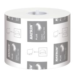 Katrin Plus System Toilet Roll 500 Sheet 3 Ply Janitorial Supplies