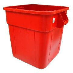 Square Huskee Red Bin Janitorial Supplies