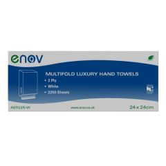 Multifold Luxury White Hand Towels Janitorial Supplies