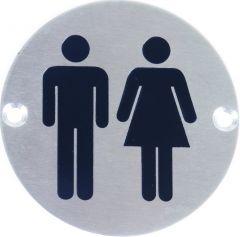 Stainless Steel Unisex Sign Janitorial Supplies