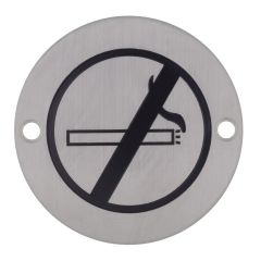 Stainless Steel No Smoking Sign Janitorial Supplies