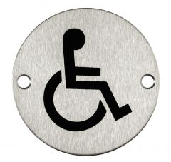 Stainless Steel Disabled Sign Janitorial Supplies