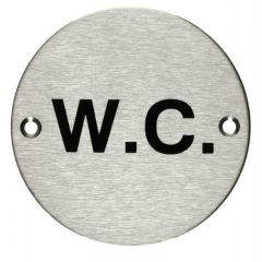 Stainless Steel WC Sign