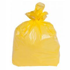 Square Bin Liners Yellow Janitorial Supplies
