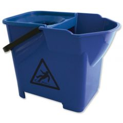 Janilec Heavy Duty Mop Bucket 16 Litre Blue Janitorial Supplies