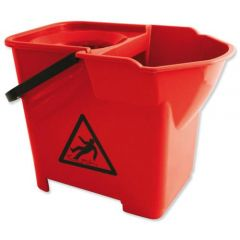 Janilec Heavy Duty Mop Bucket 16 Litre Red Janitorial Supplies