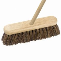 12 Inch  Complete Wooden Broom  Stiff Janitorial Supplies
