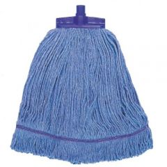 Interchange Stayflat Changer Mop Head 12oz Blue Janitorial Supplies