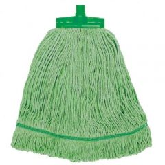 Interchange Stayflat Changer Mop Head 12oz Green Janitorial Supplies