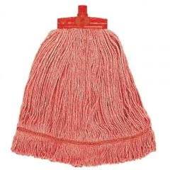 Interchange Stayflat Changer Mop Head 12oz Red Janitorial Supplies