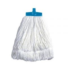 Interchange Stayflat Changer Mop Head 16oz Blue Janitorial Supplies