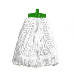 Interchange Stayflat Changer Mop Head 16oz Green Janitorial Supplies