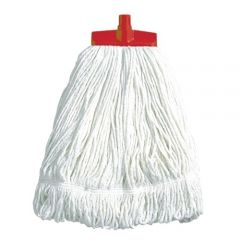 Interchange Stayflat Changer Mop Head 16oz Red Janitorial Supplies