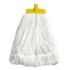 Interchange Stayflat Changer Mop Head 16oz Yellow Janitorial Supplies