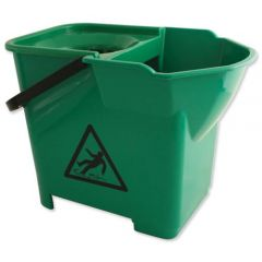 Janilec Heavy Duty Mop Bucket 16 Litre Green Janitorial Supplies