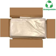 Biodegradable Refuse Bags Clear Janitorial Supplies