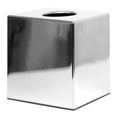 Facial Tissue Cube Dispenser Chrome Finish Janitorial Supplies
