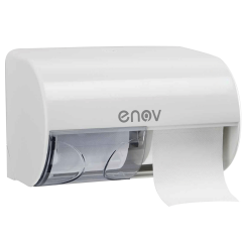 Lineacqua White 2 Roll Tissue Dispenser Janitorial Supplies