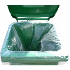 Wheelie Bin Bags Medium Duty Clear Janitorial Supplies