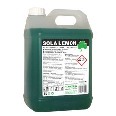 Clover Sola Lemon Hard Surface Cleaner 5 Litre Janitorial Supplies