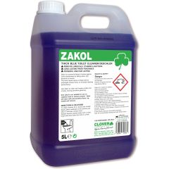 Clover Zakol Acidic Toilet Cleaner & Desca 5 Litre Janitorial Supplies