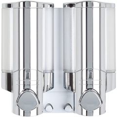Aviva 2 Chamber Soap Dispenser Chrome Janitorial Supplies