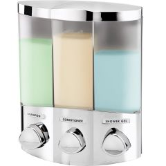 Euro 3 Chamber Soap Dispenser Chrome Janitorial Supplies
