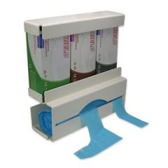 Duo Glove and Apron Dispenser White Plastic Janitorial Supplies