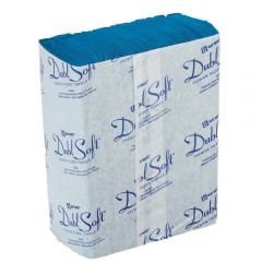 DublSoft Micro Folded Towel 1Ply Blue Janitorial Supplies