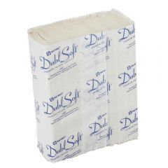 DublSoft Micro Folded Towel 1Ply White Janitorial Supplies