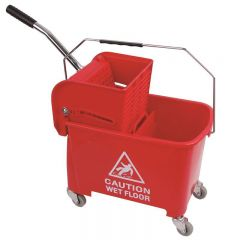 King Speedy Bucket and Wringer Red Janitorial Supplies