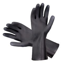 Heavy Duty Rubber Black Gloves XL Janitorial Supplies