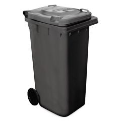 Wheelie Bin 120 Litres Black Janitorial Supplies
