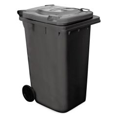 Wheelie Bin 240 Litres Black Janitorial Supplies