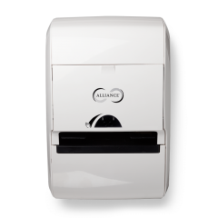 Alliance Hands-Free Towel Dispenser White Janitorial Supplies