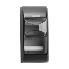 Katrin Inclusive Toilet 2-Roll Dispenser Black Janitorial Supplies