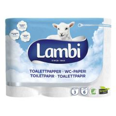 Lambi Luxury 3Ply Toilet Rolls White - Pallet Janitorial Supplies
