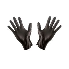 Stretch Nitrile Powder Free Gloves Large Black Janitorial Supplies