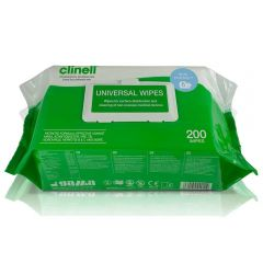 Clinell Universal Multi Purpose Sanitising 200 Wipes Janitorial Supplies
