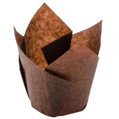 Greaseproof Tulip Cupcake/Muffin Wraps Brown Janitorial Supplies