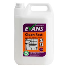 Evans Clean Fast Heavy Duty Washroom Cleaner 5 Litre Janitorial Supplies