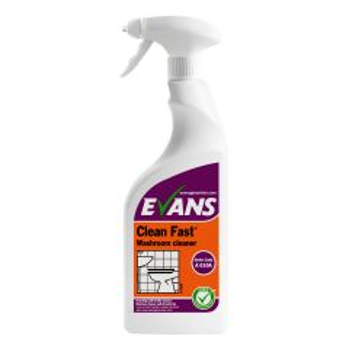 Evans Clean Fast Heavy Duty Washroom Cleaner RTU 750ml Janitorial Supplies